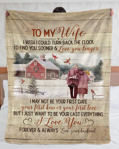BENICEE Top 5 Gift For Wife Custom Name Blanket - To My Wife Christmas Gift-Blankets-Benicee