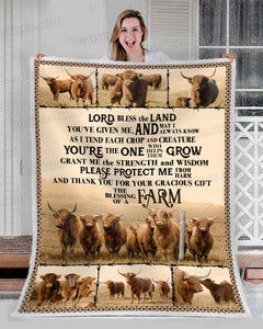 Blanket - Farm - Highland cattle - A farmer's prayer - Benicee