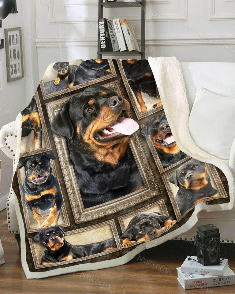 Blanket - Dog - Rottweiler Brown ver 2 3D - Benicee