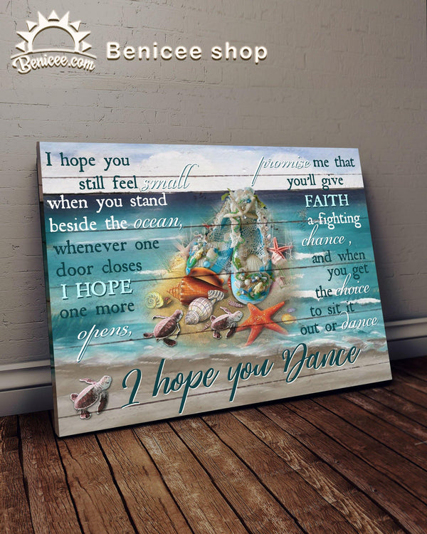 BENICEE Ballet I Hope You Dance Wall Art Canvas-Canvas Prints-Benicee