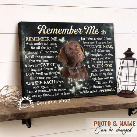 Personalized Pet Loss Gift Canvas - Dog The Moment That You Left Me Top 5 BENICEE-canvas-Benicee