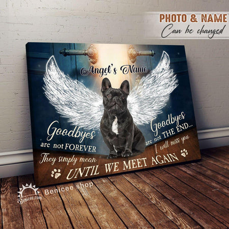 Personalized Pet Loss Gift Wall Art Canvas Goodbyes Are Not Forever Until We Meet Again At BENICEE