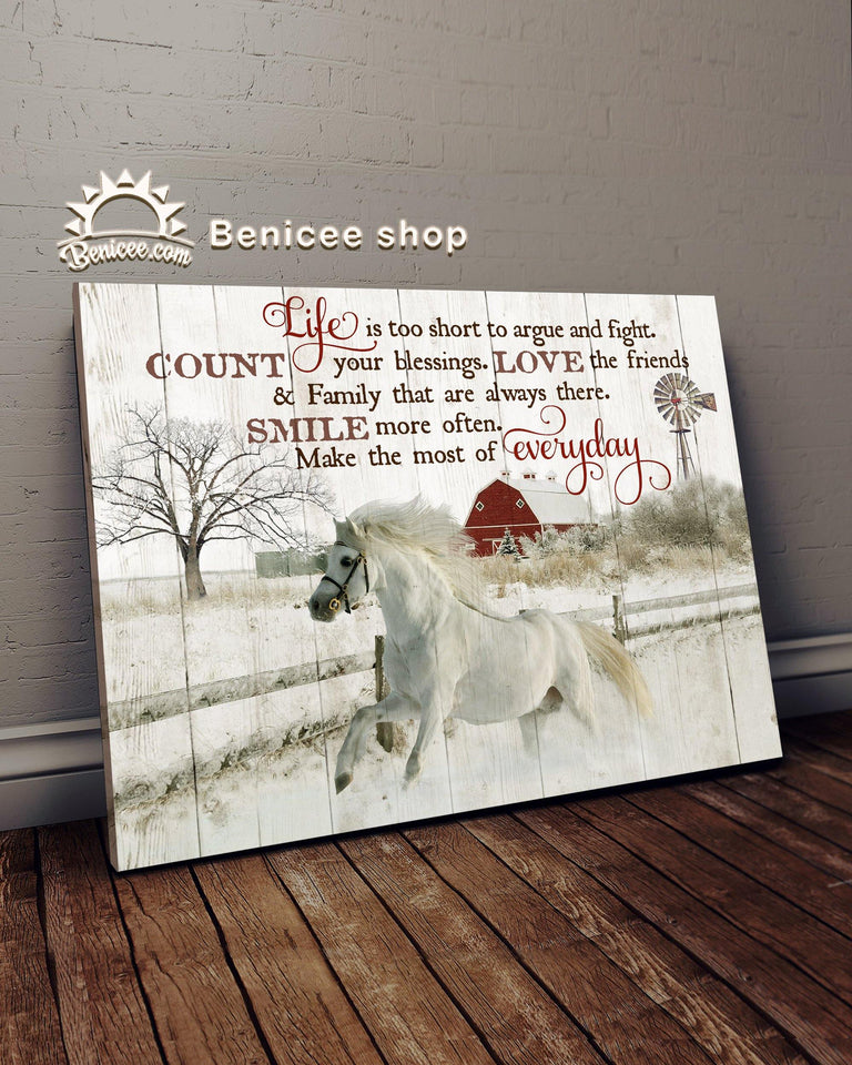 BENICEE Horse Smile Everyday Wall Art Canvas-canvas-Benicee