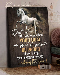 BENICEE Top 3 Horse Canvas Decor - To be Proud of yourself Wall Art Canvas-Canvas Print-Benicee