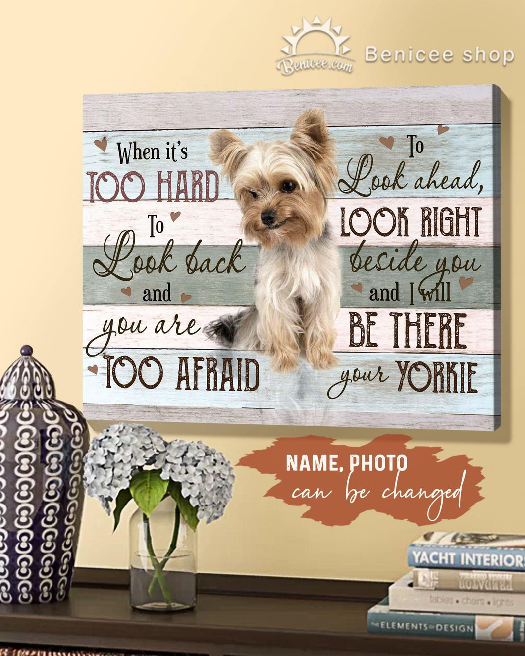 BENICEE Custom Photo and Name Dog - I Will Be There Wall Art Canvas-Canvas Print-Benicee