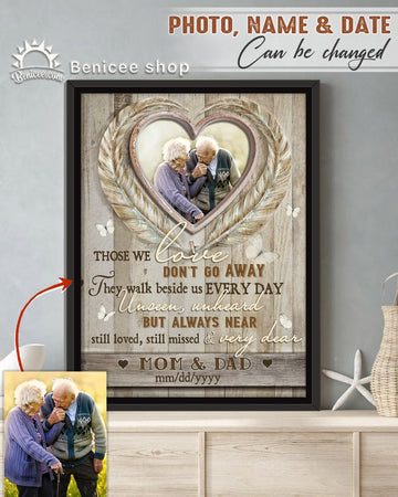 BENICEE  Personalized Memorial Gift Frame Canvas Wall Art Those We love don't go away Top 3 Home Decor