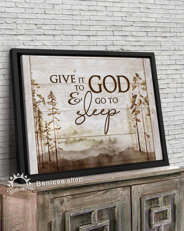 BENICEE Wilderness Framed Canvas Art Give it to God and Go to Sleep Top 3 Home Decor