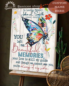 Personalized Memorial Gift Canvas You Left Me Beautiful Memories Top 5 BENICEE-canvas-Benicee