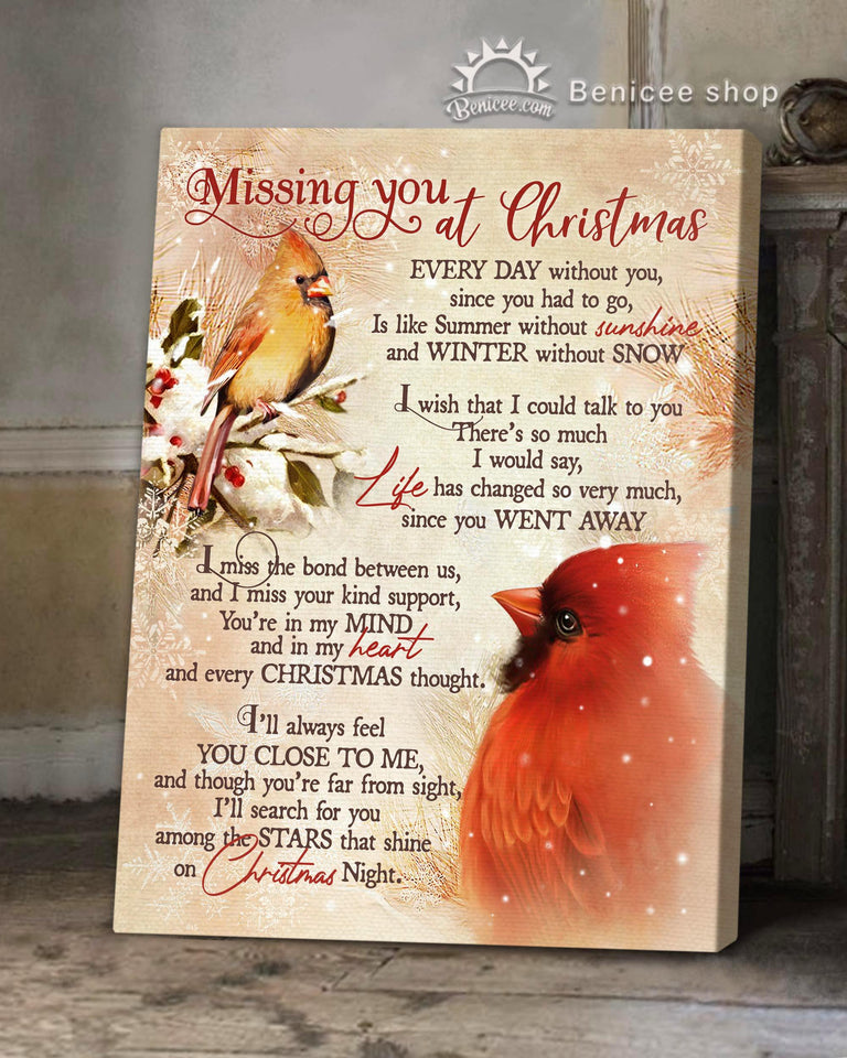 Memorial Gift Canvas - Heaven Missing You At Christmas Top 5 BENICEE-Canvas Print-Benicee