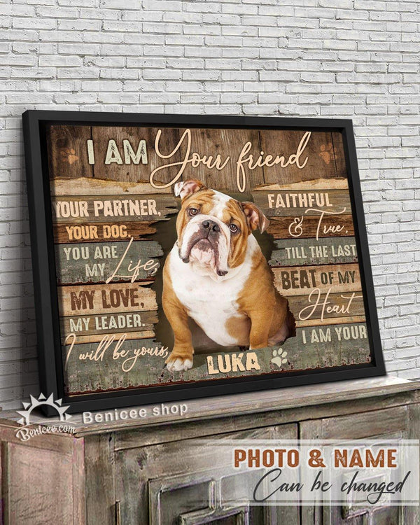 BENICEE Personalized Pet Gift Frame Canvas Wall Art I am your Friend Top 3 Home Decor-Framed Canvas-Benicee
