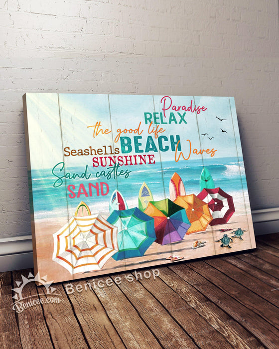 BENICEE Beach House Canvas Decor - The good life Beach Top 3 Home Decor