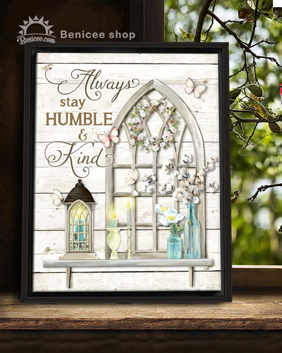 BENICEE FarmHouse Decor Framed Canvas Art Humble and Kind Top 3 Home Decor