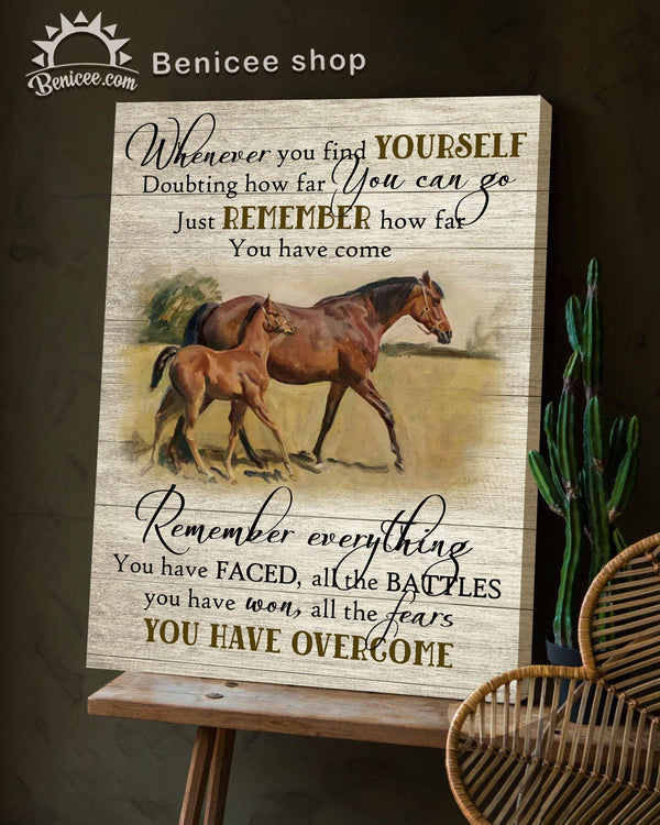 BENICEE Top 3 Horse Wall Art Canvas - You have overcome Brow Vintage-Canvas Print-Benicee