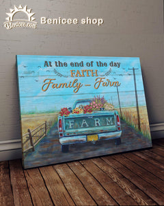 BENICEE Farm At the end day Wall Art Canvas-Canvas Print-Benicee