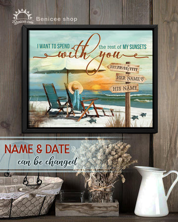 Beach House Personalized Framed Canvas Top 5 Wall Art The Rest Of Sunsets