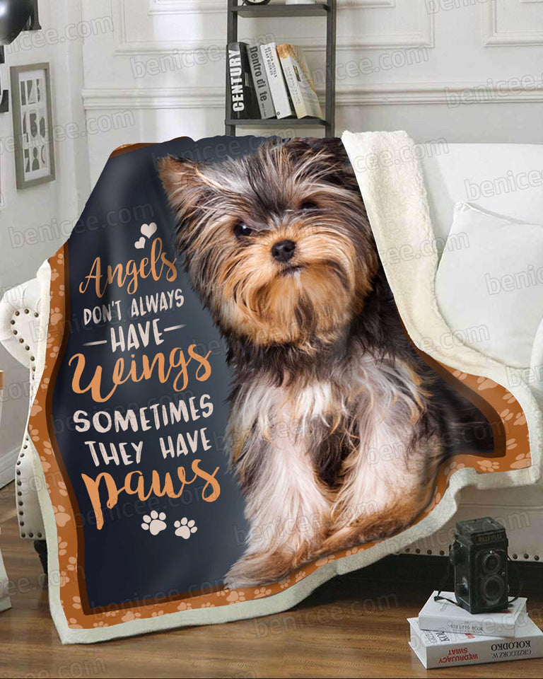 Blanket - Dog - Yorkshire Terrier - Angels have paws - Benicee