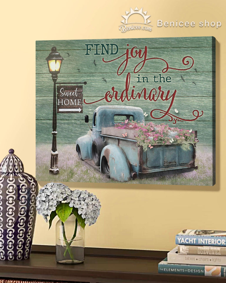 BENICEE Top 10 Truck Wall Art Canvas - Find joy in the ordinary-Canvas Print-Benicee