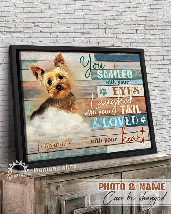BENICEE Personalized Pet Gift Frame Canvas Wall Art You Smiled with your Eyes Top 3 Home Decor