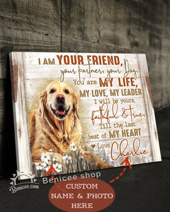 BENICEE Custom Photo AND NAME I Am Your Friend Wall Art Canvas-Canvas-Benicee