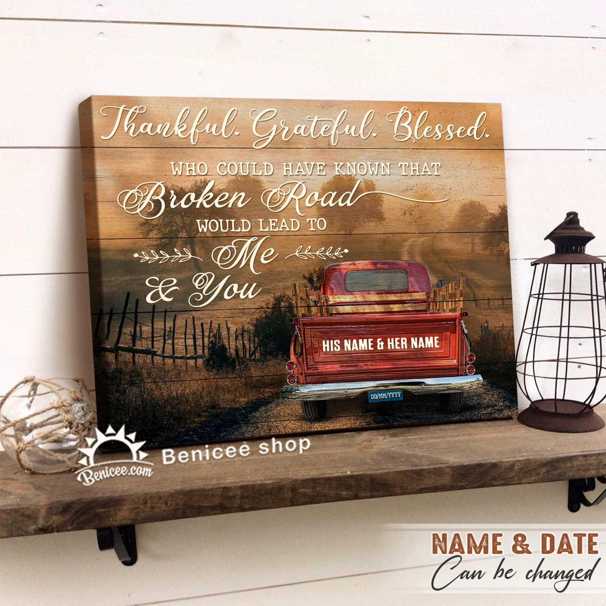 Personalized Farmhouse Wall Art Canvas God Broken Road Would Lead To Me And You Top 10 BENICEE