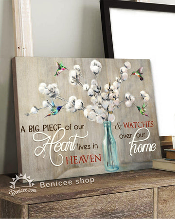 BENICEE Memorial Gift Top 5 Wall Art Canvas A Big Piece Of Our Heart-Canvas Print-Benicee