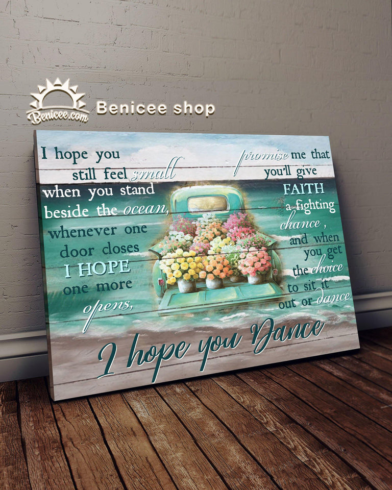 BENICEE Car I Hope You Dance Oop Wall Art Canvas-canvas-Benicee