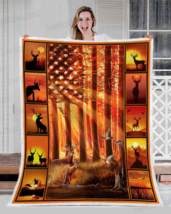 Blanket - Hunting - Forest art - Benicee