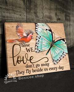 Memorial Gift Canvas - Heaven Those We Love Fly Beside Us Top 5 BENICEE-Canvas-Benicee