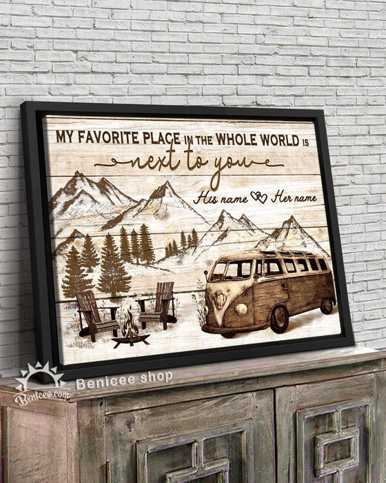 BENICEE Personalized Anniversary Gift Frame Wall Art Canvas Next to You Camper Van Top 3 Home Decor