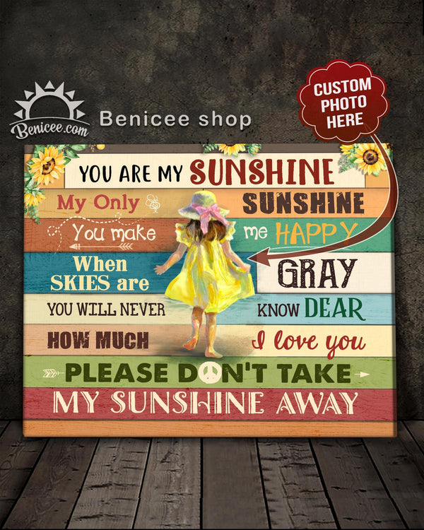 Personalized Gift For Kids Canvas My Children You Are My Sunshine Top 3 BENICEE-Canvas Print-Benicee