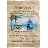 BENICEE Top 5 Gift For Wife Custom Name Blanket - To My Wife Walking On The Beach-Blankets-Benicee