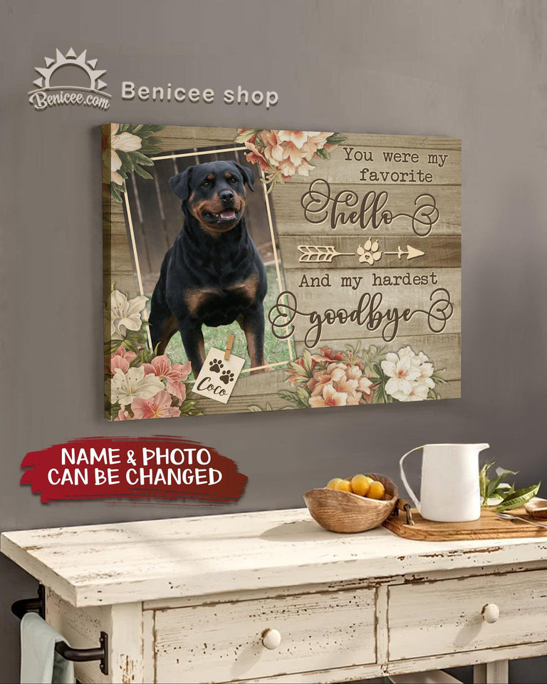 BENICEE Top 3 Dog Canvas Custom photo and name - You were my favorite hello Wall Art Canvas-Canvas Print-Benicee