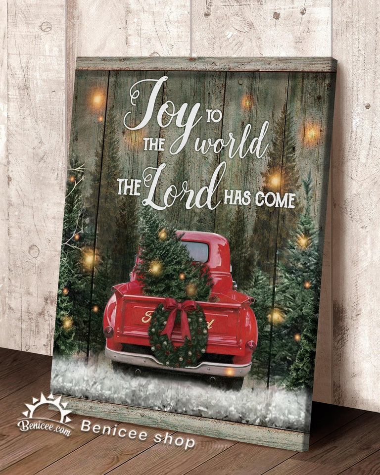 BENICEE Top 5 Christmas Gift Wall Art Canvas - Joy To The World-Canvas Print-Benicee