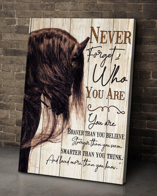 BENICEE Horse Never Forgot Who You Are Wall Art Canvas-canvas-Benicee