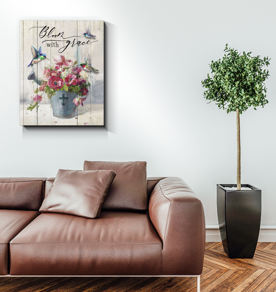 BENICEE Hippie Bloom With Grace OOP Wall Art Canvas-canvas-Benicee