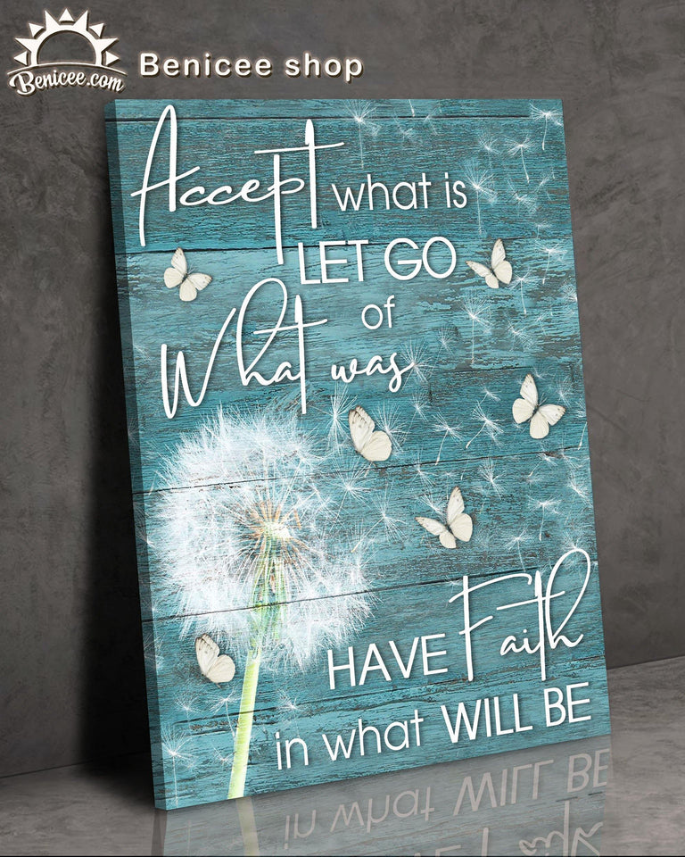 Hippie Flower Dandelion Accept Let Go Have Faith Top 15 BENICEE-canvas-Benicee