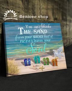 BENICEE Ocean Shake the sand OP Wall Art Canvas-canvas-Benicee