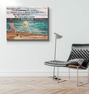 BENICEE Ocean My Faith Will Stand OOP Wall Art Canvas-canvas-Benicee