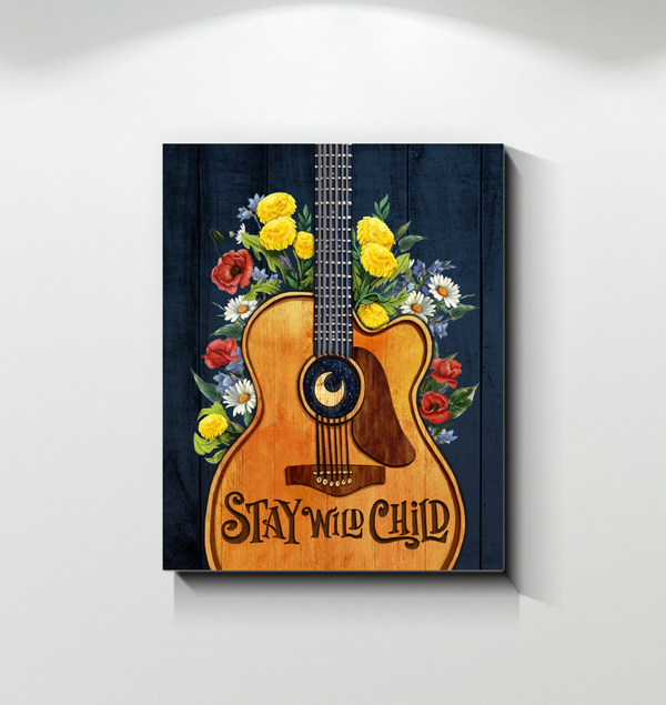 Canvas - Hippie - Stay wild child - Benicee