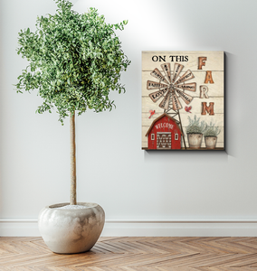 BENICEE Farm On This Farm We Do Wall Art Canvas-Canvas Prints-Benicee