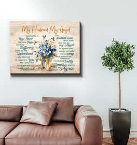 Memorial Gift Canvas - Heaven My Husband My Angel Top 10 BENICEE-Canvas Prints-Benicee