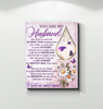 Memorial Gift Canvas - You Are My Husband Purple Color Top 3 BENICEE-Canvas Prints-Benicee