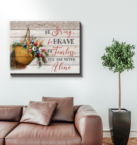 Canvas - Hippie - Flower - You are not alone - Benicee
