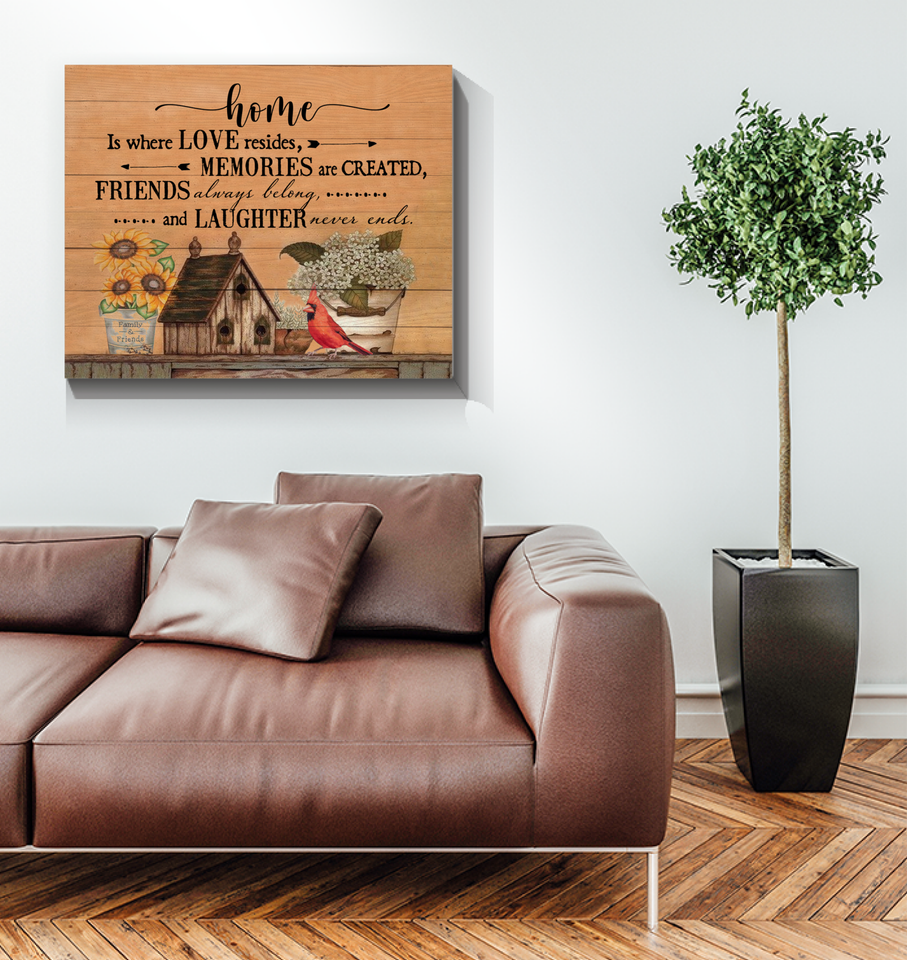 Canvas - Family - Home is where love resides - Benicee