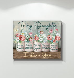 Canvas - Hippie - To my daughter - You are my sunshine - Benicee