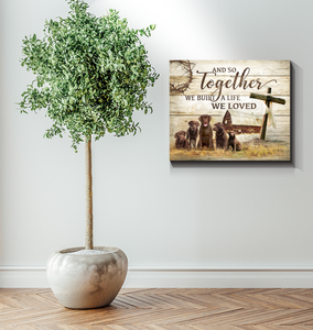 Canvas - Dogs - Chocolate Labrador - And so together - Benicee