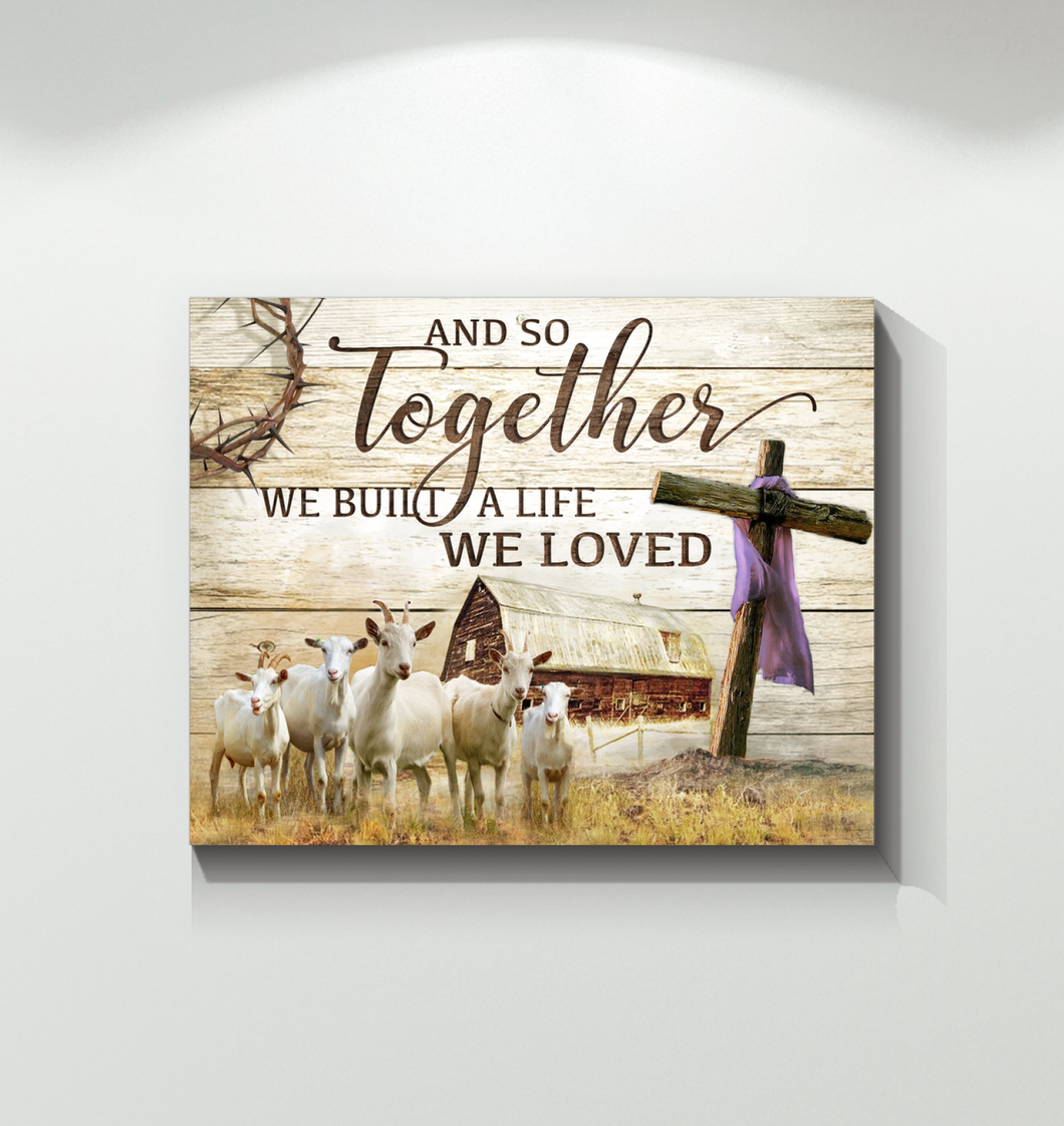 BENICEE Farm Goats And So Together Wall Art Canvas-Canvas Prints-Benicee