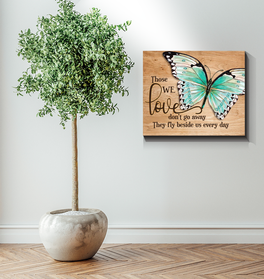 Memorial Gift Canvas - Heaven Butterfly They fly beside us every day Top 5 BENICEE-Canvas Prints-Benicee