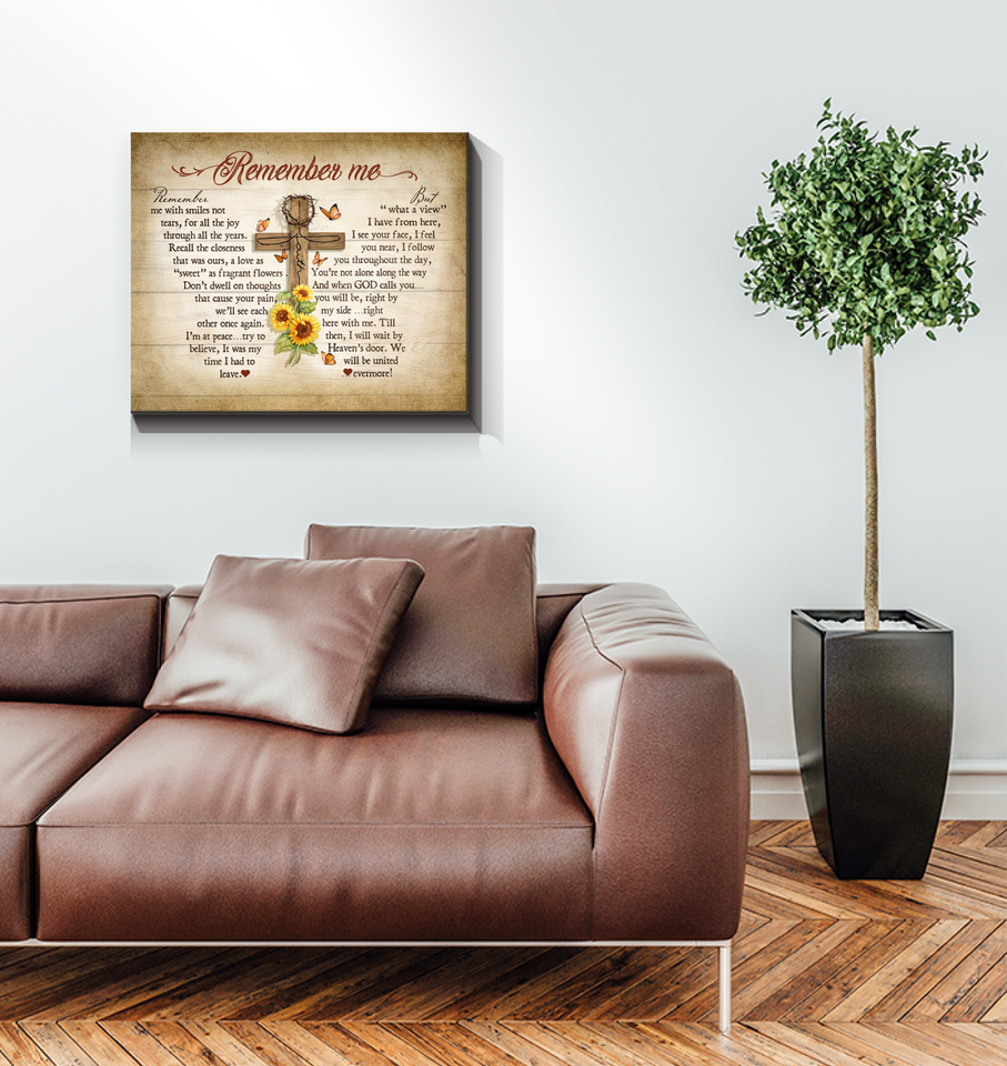 Memorial Gift Canvas - Jesus Remember me Wall art canvas Top 5 BENICEE-Canvas Prints-Benicee