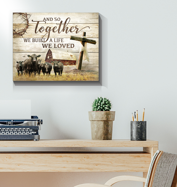 Farming Rustic Wall Art Decor And So Together Black Angus Version Top 5 At Benicee-Canvas Prints-Benicee